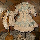 Beautiful Navy Style French Bebe Costume with Bonnet