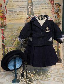 Three Piece original Jumeau Sailor Costume