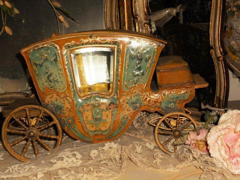 Very Rare Luxury French Romantic Mignonette Coach