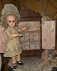 """Rare Bebe´s Wooden """" Petite Armoire """" from Paris Doll Shop"""