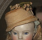 Rare Early 1870 Poupee Bonnet for Huret , Rohmer or other Early Doll
