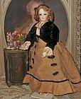 Rare Articulated Parisienne Doll by Julien Ernest Pannier