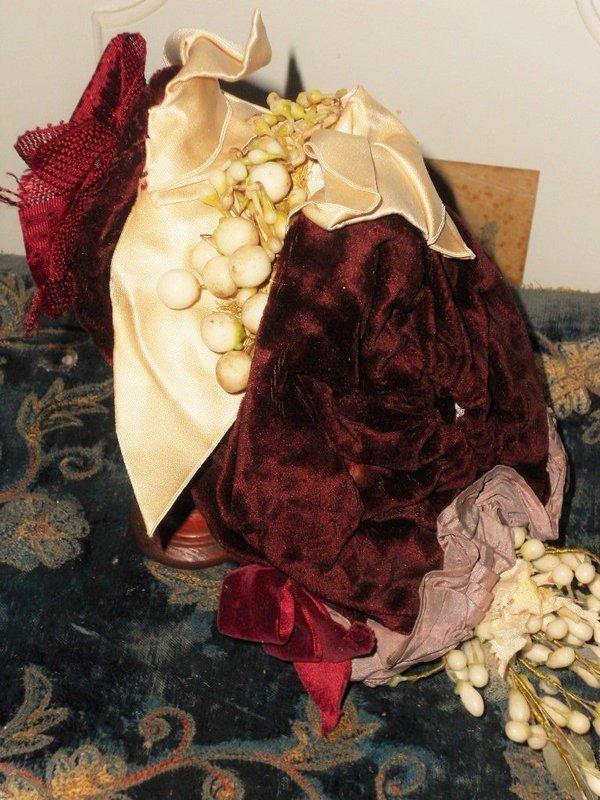 ~~~ Elegant French Bebe Silk Costume with Bonnet ~~~