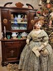 ~~~ Lovely Doll Wooden Buffet with Porcelain Garniture ~~~