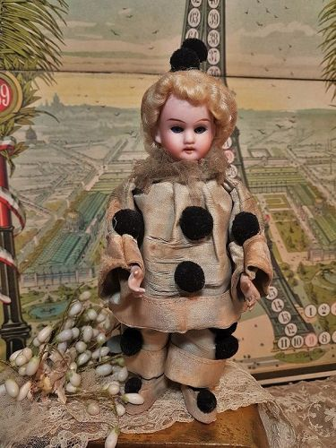 ~~~ Lovely French Bisque Candy Container Doll / from 19th. Century ~~~