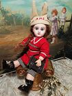 """~~~ Rare 11"""" Size 2 Mademoiselle Jumeau in Lovely Antique Clothing ~~~"""