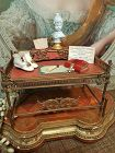 French Poupee Bronze Secretary Table in Manner of Maison Giroux
