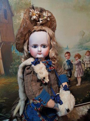 Splendid French Bisque Bebe by Petit et Dumoutier in Antique Costume