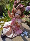 Cute little French Bisque Mademoiselle Jumeau size 4