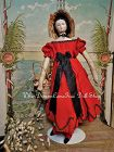 ~~~ Rare Early Wooden Doll with Original Costume and Peddler Basket ~~