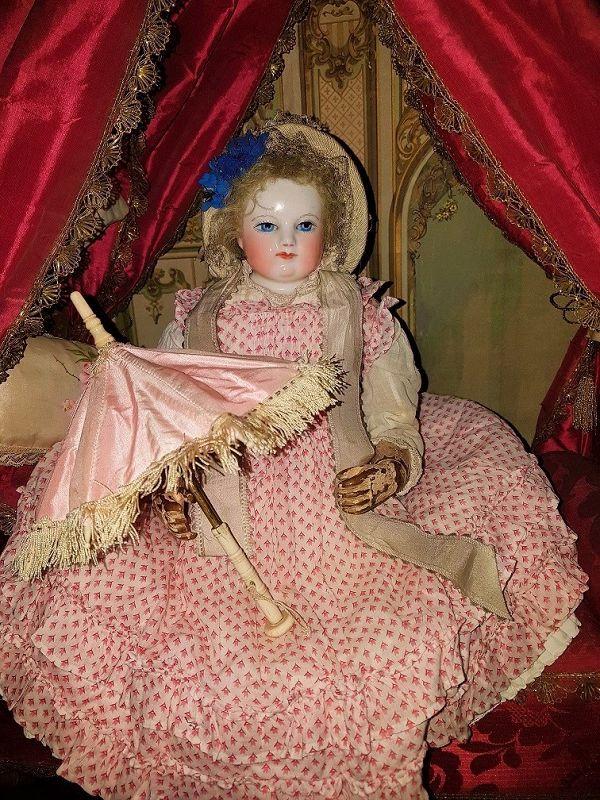 ~~~ Beautiful small French Poupee Silk Parasol ~~~