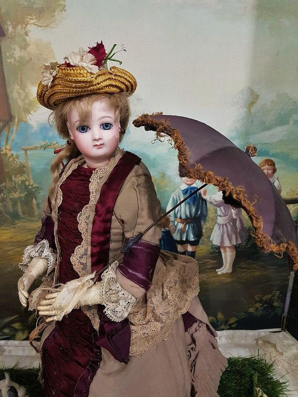 ~~~ Beautiful all original Costumed French Mademoiselle Jumeau ~~~