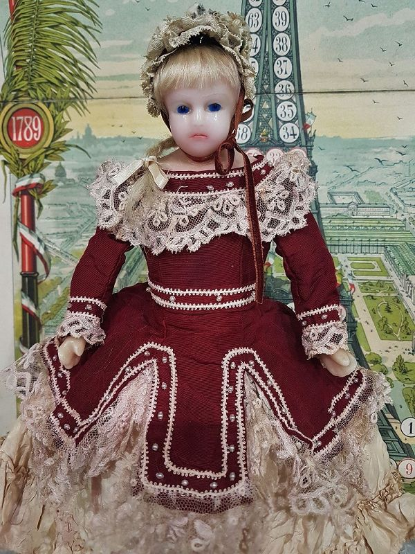 ~~~ Lovely Poured Little Wax Young Lady Doll in lovely Clothing ~~~