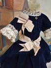 "Lovely original Antiuqe Silk Dress for 15"" / 16"" Bebe"