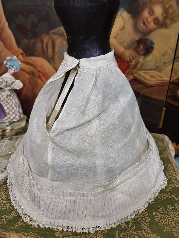 ~~~ Lovely French Poupee Hoop and Petticoat Set / 1875 ~~~