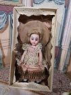 Antique French all Bisque Mignonette in Original Costume and Box