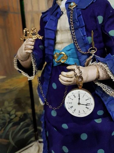 ~~~ Lovely French Faux Watch for Fashion Doll or Bebe / 1880 ~~~