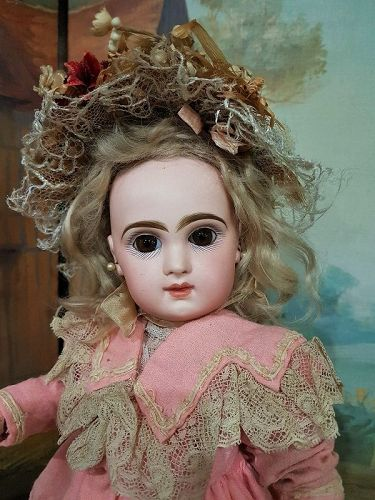 ~~~ Happy Face French Bisque Bebe Jumeau size 5 ~~~