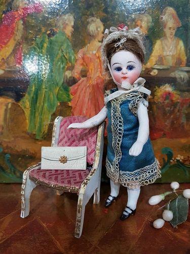 ~~~ Pretty French All-Bisque Mignonette with Original Costume ~~~