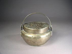 Chinese paktong (baitong) handwarmer
