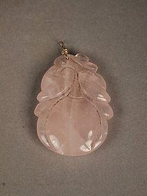 Chinese rose quartz pendant