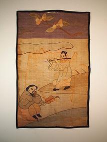 Chinese silk Kossu panel