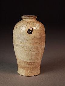 Chinese Cizhou mini meiping vase