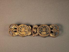 Chinese bronze belt buckle