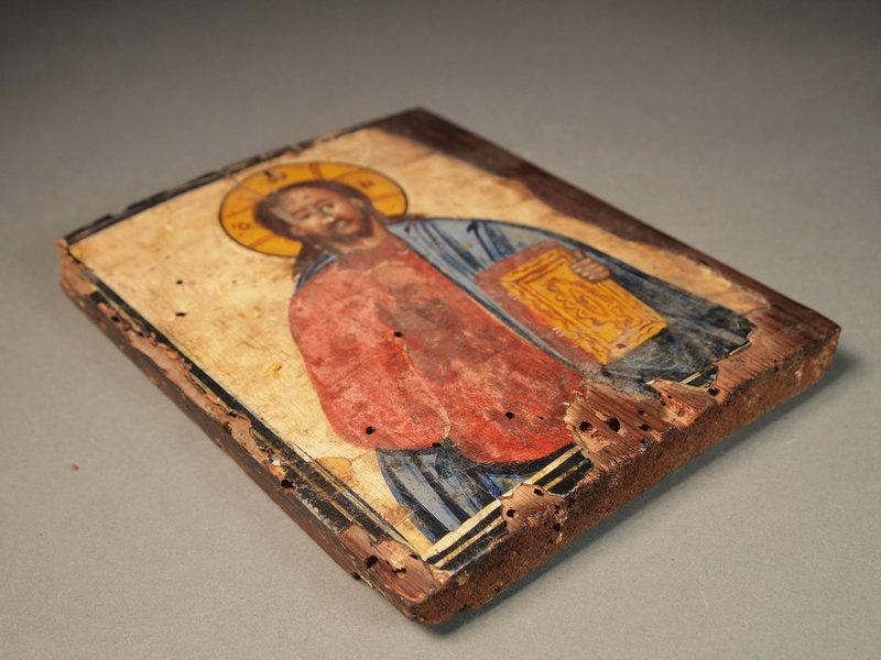 Greek icon painting on wood panel