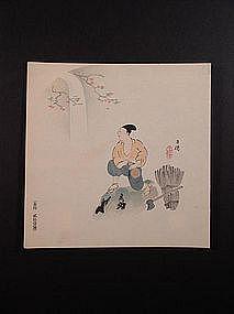 Original woodblock print by Hyakusui (1877-1933)