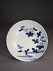 Japanese blue / white Nabeshima porcelain dish