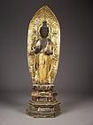 Japanese standing Buddha figure