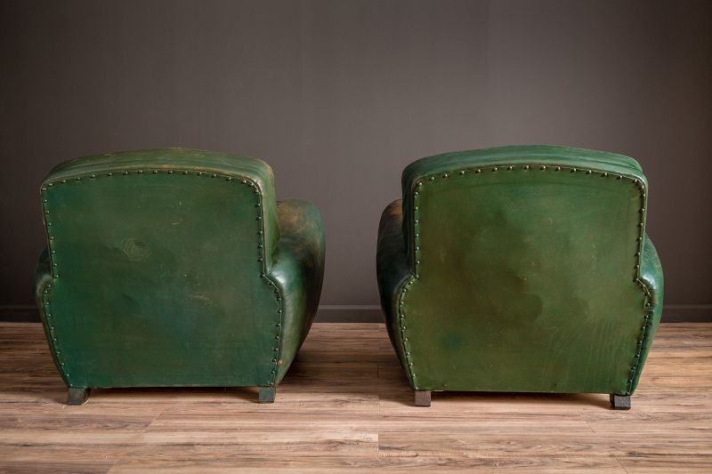 Green Library French Club Chair Salon set
