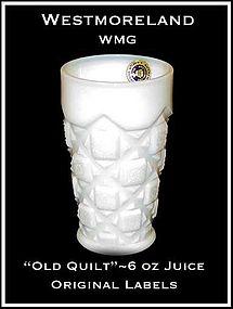 """Westmoreland """"Old Quilt"""" 6oz Juice Tumbler-Org Label"""