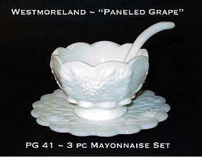 """Westmoreland """"Paneled Grape"""" PG 41 3pc Mayo Set"""