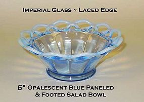 """Imperial Glass Lace Edge Katy Style 6"""" Salad Bowl"""