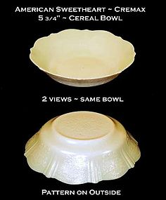 American Sweetheart HTF Cremax Cereal Bowl