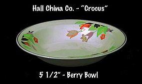 "Hall China ""Crocus"" Pattern Small Berry Bowl"