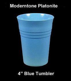 Moderntone Platonite Pastel Blue 4 inch Water Tumbler