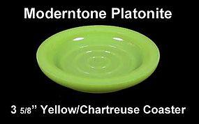 "Moderntone Platonite Pastel Yellow 3 5/8"" Coaster"