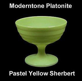Moderntone Platonite Pastel Yellow Footed Sherbert