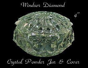 Jeannette Glass - Windsor Diamond Crystal Powder Jar