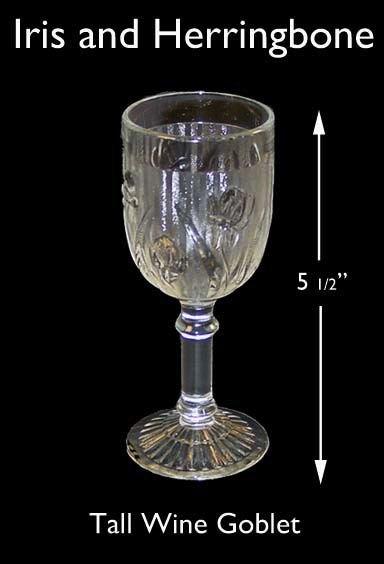 Iris and Herringbone Tall 4 1/2 in Wine Goblet