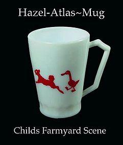 Hazel Atlas Childs Youth Mug With Barnyard Scene