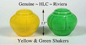 Vintage HLC Genuine Riviera SALT & PEPPER Shakers