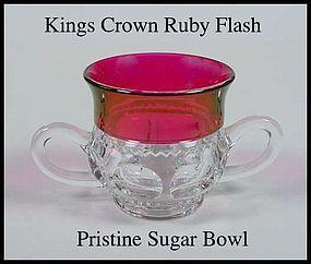 Tiffin U.S. Glass Indiana King's Crown Ftd Sugar Bowl