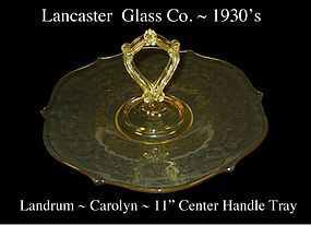 """Lancaster Glass ~ Landrum 11"""" Yellow CH Serving Tray"""