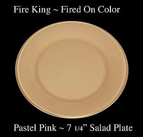 Fire King Fired On Color ~ Pastel Pink Salad plate