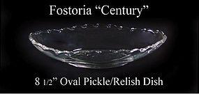 "Fostoria Glass Co. ~ 1950's ~ ""Century"" Pickle Dish"