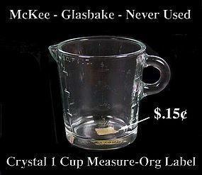 McKee 1950s Glasbake Crystal 1 Cup Measure-Org Price